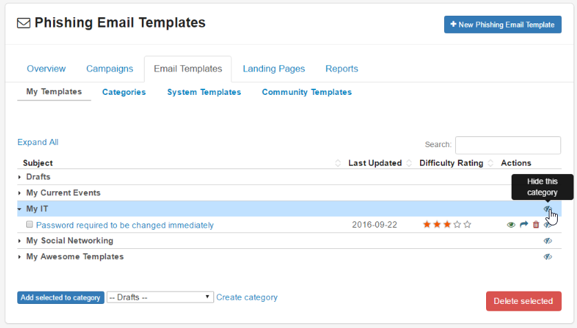 How do i hide templates or categories i don 39 t want to use for Take what you need template