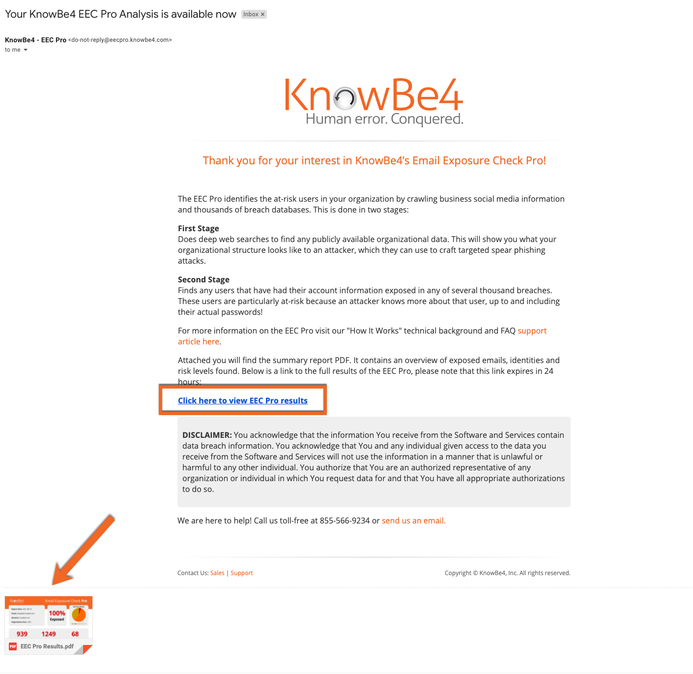 Email Example PNG