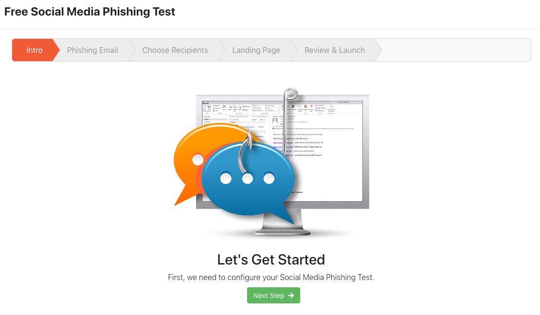 Free Social Media Phishing Test (SPT) Quickstart Guide