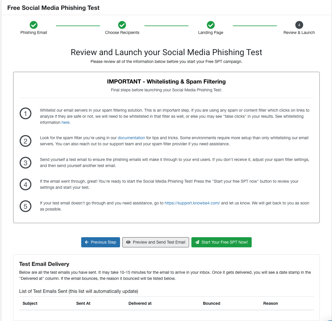 Free Social Media Phishing Test (SPT) Quickstart Guide