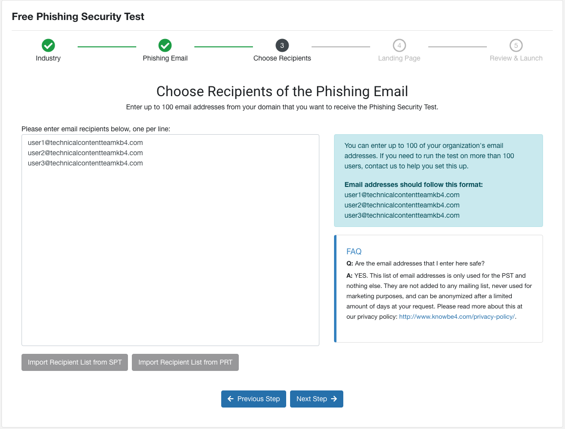 Free Phishing Security Test (PST) Quickstart Guide