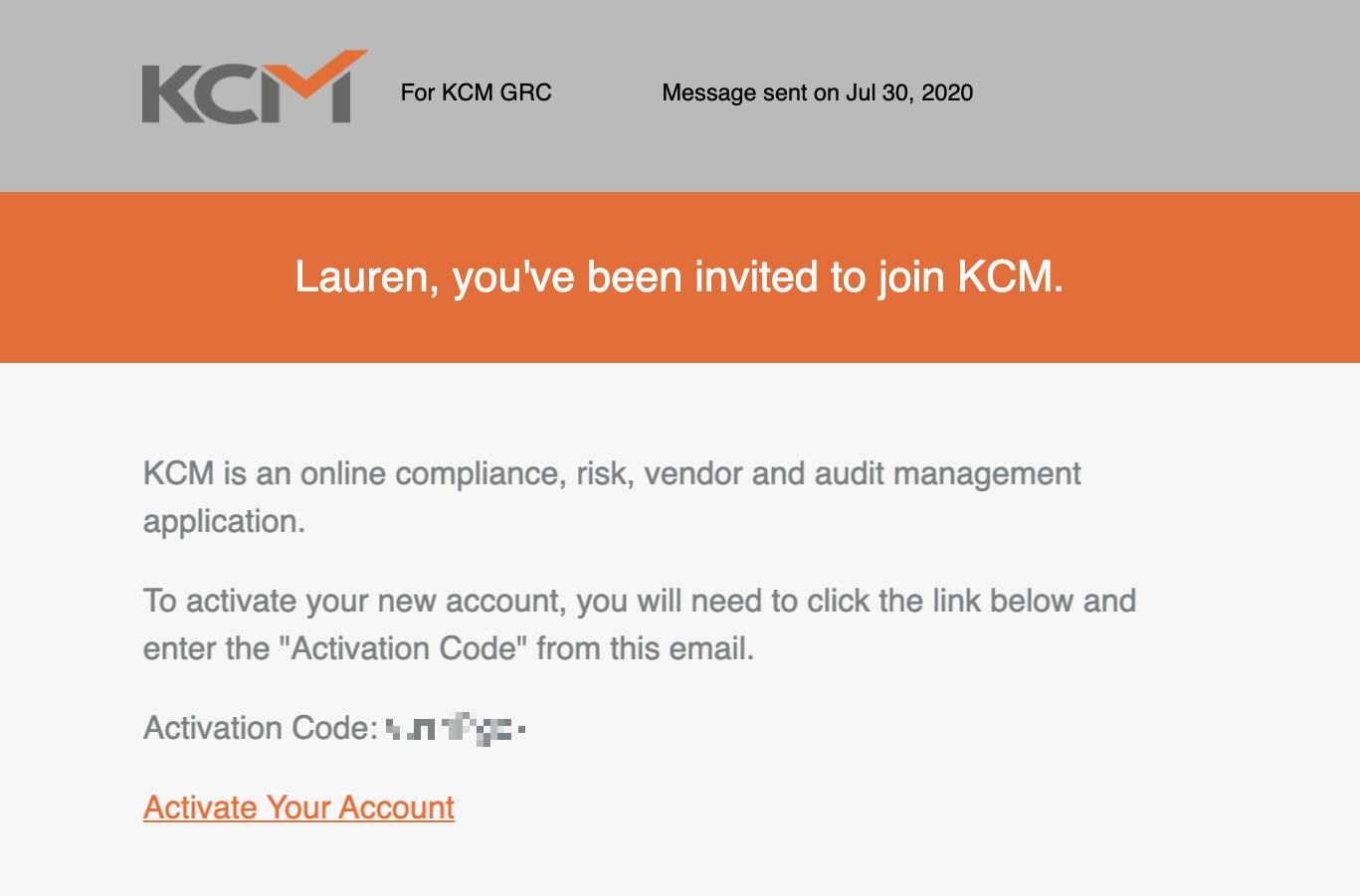 Account Confirmation Email