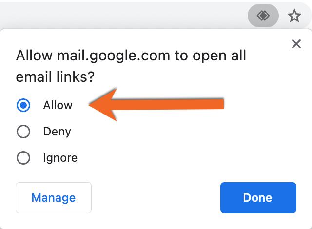 Allow Handler Chrome PNG