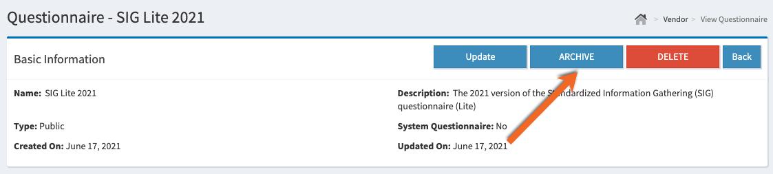 Questionnaire Archive Button PNG