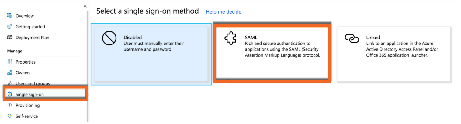 Azure Single sign-on Tab PNG