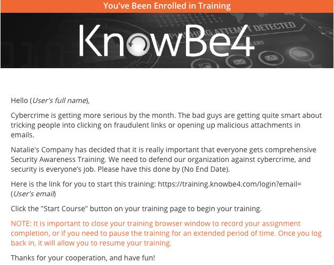 Customizing Training Notifications – Knowledge Base