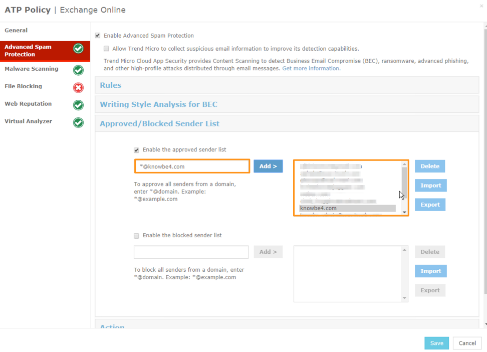 Whitelisting in Trend Micro – Knowledge Base