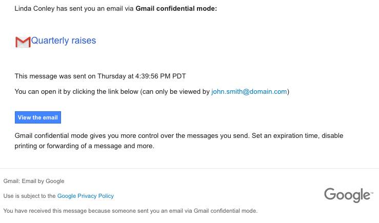 KnowBe4 Scam of the Week: Watch Out for Gmail Confidential Emails
