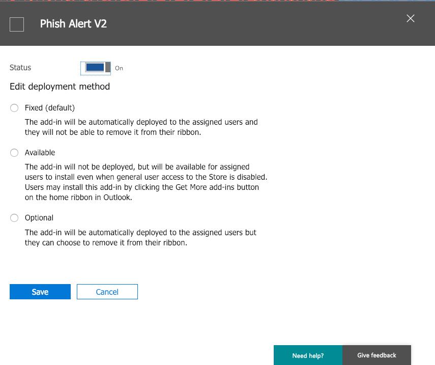 Multiple Phish Alert Button Instances (Multi-PAB): Office 365