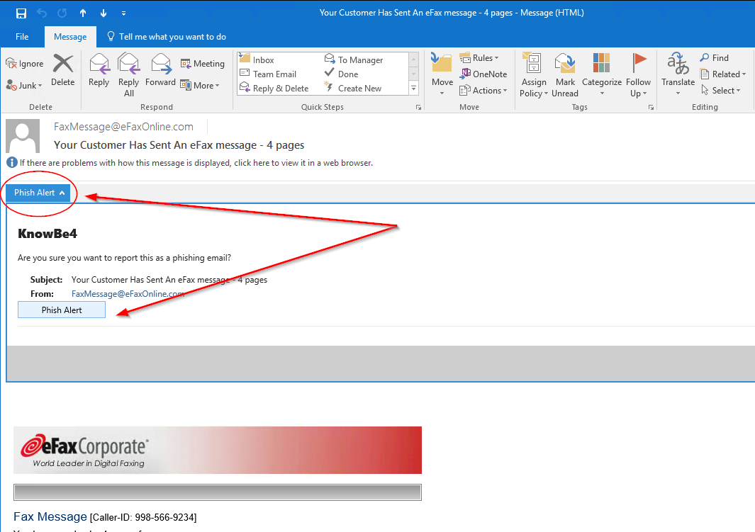 How Do I Use the Phish Alert Button in Outlook? – Knowledge Base