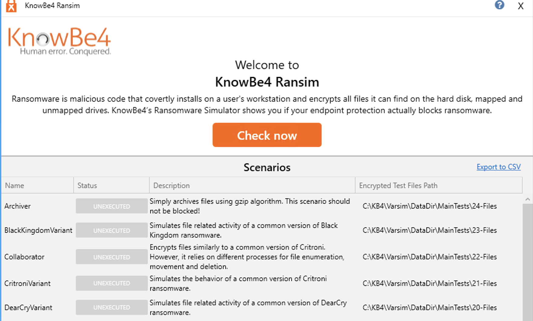 RanSim – Knowledge Base