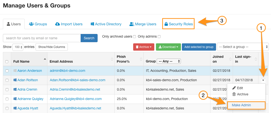 Users and Groups – Knowledge Base
